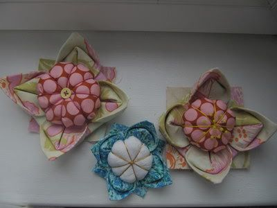 How To Make A Fabric Origami Lotus Flower Pincushion Fabric