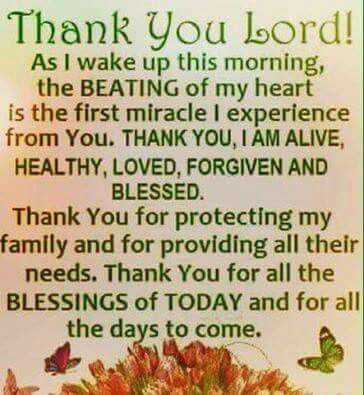Lord I Am Greatful For Every New Day And Each Beautiful Breath