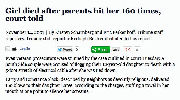 Homeschooling's Invisible Children: Laree Slack | http://hsinvisiblechildren.org/2014/02/15/laree-slack/