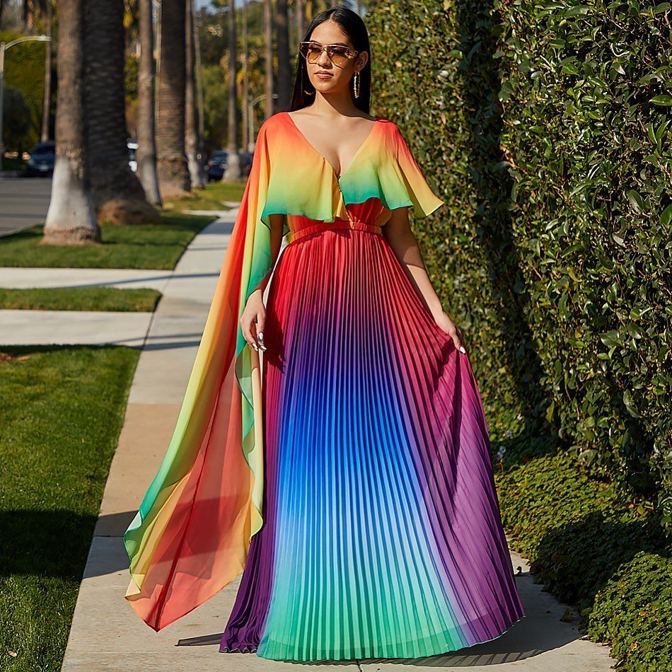Lilly S Kloset On Instagram Our Faultless Rainbow Pleated Maxi Dress Is Going Fast Available Now In Siz Pleated Maxi Dress Striped Maxi Dresses Dresses [ 950 x 950 Pixel ]