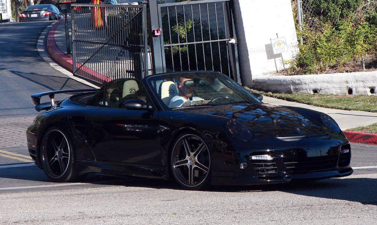 Photo David Beckham S Porsche Turbo Celebrity Cars Athlete