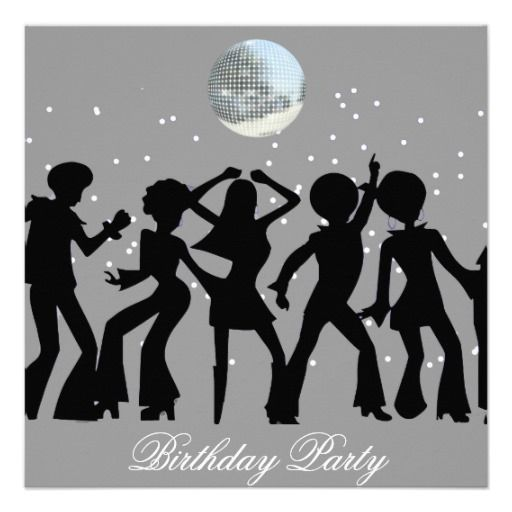 Disco 70s Birthday Party Invitation Party invitations Discos and