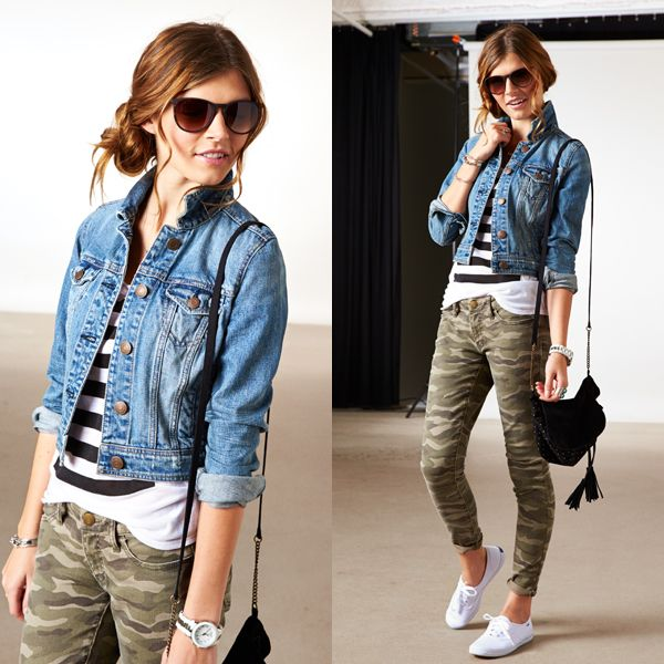 Camo and denim via American Eagle Outfitters - Camo And Denim Via American Eagle Outfitters Fall Fashion