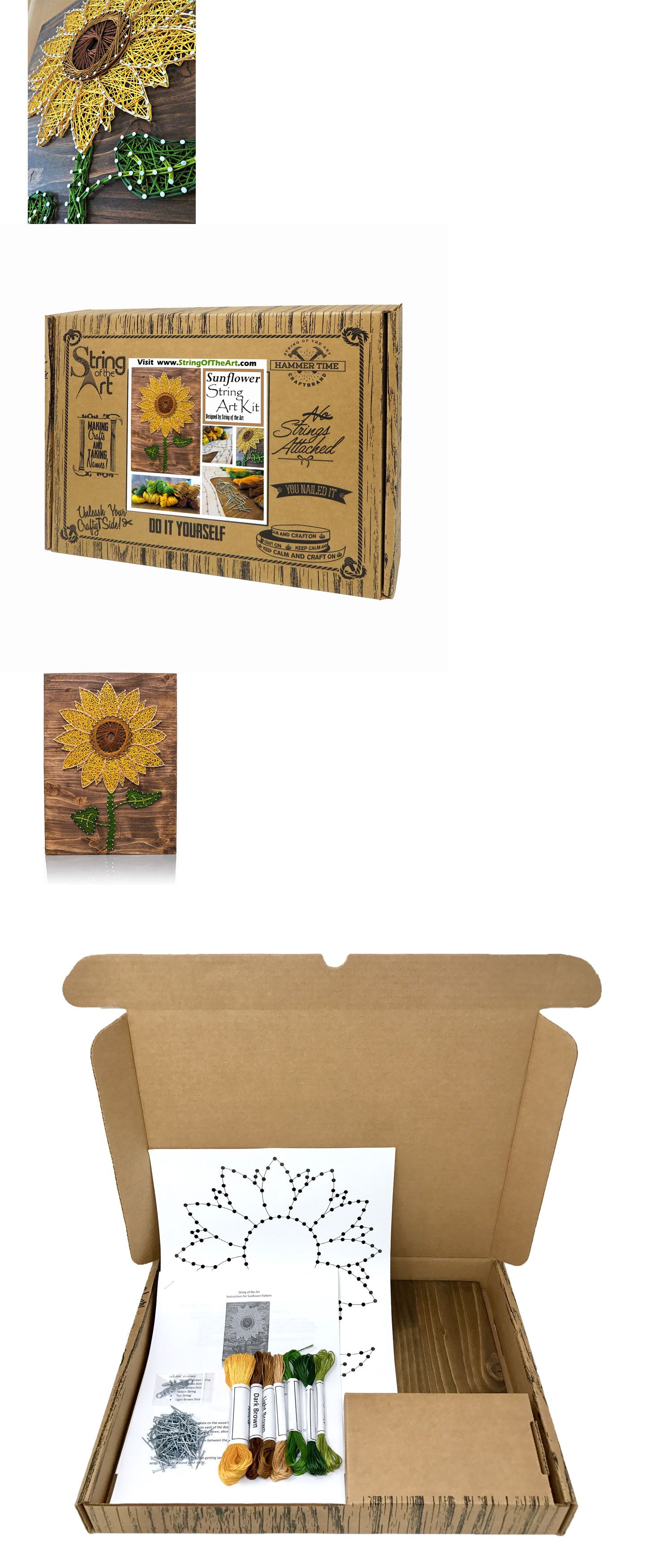 Wall d cor and tatouage 75575 sunflower string art kit sunflower wall d cor and tatouage 75575 sunflower string art kit sunflower crafts adult solutioingenieria Image collections
