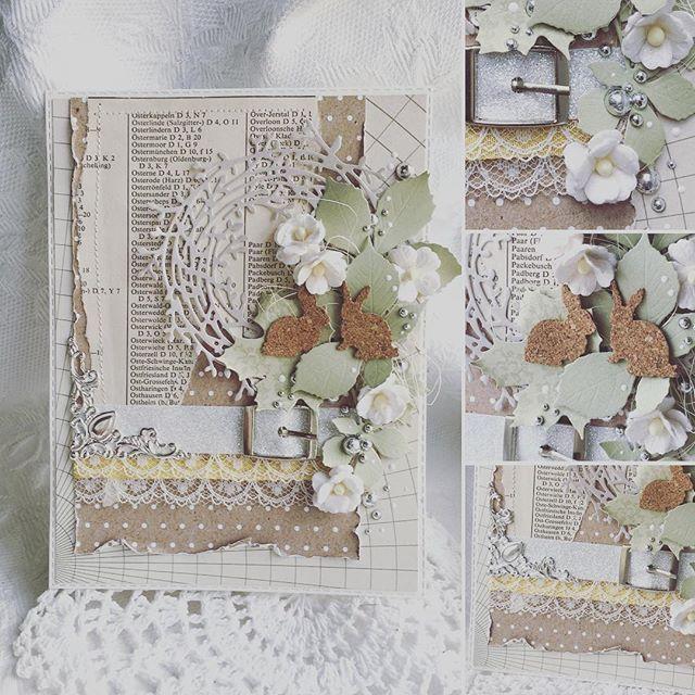 card easter Påske kort Ostern Karte IO #impressionobsession #easter #bunnies #card #cardmaking IO bunny wreath vintage
