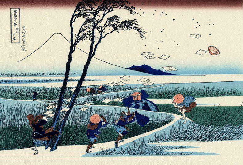 katsushika-hokusai-ejiri-suruga-province