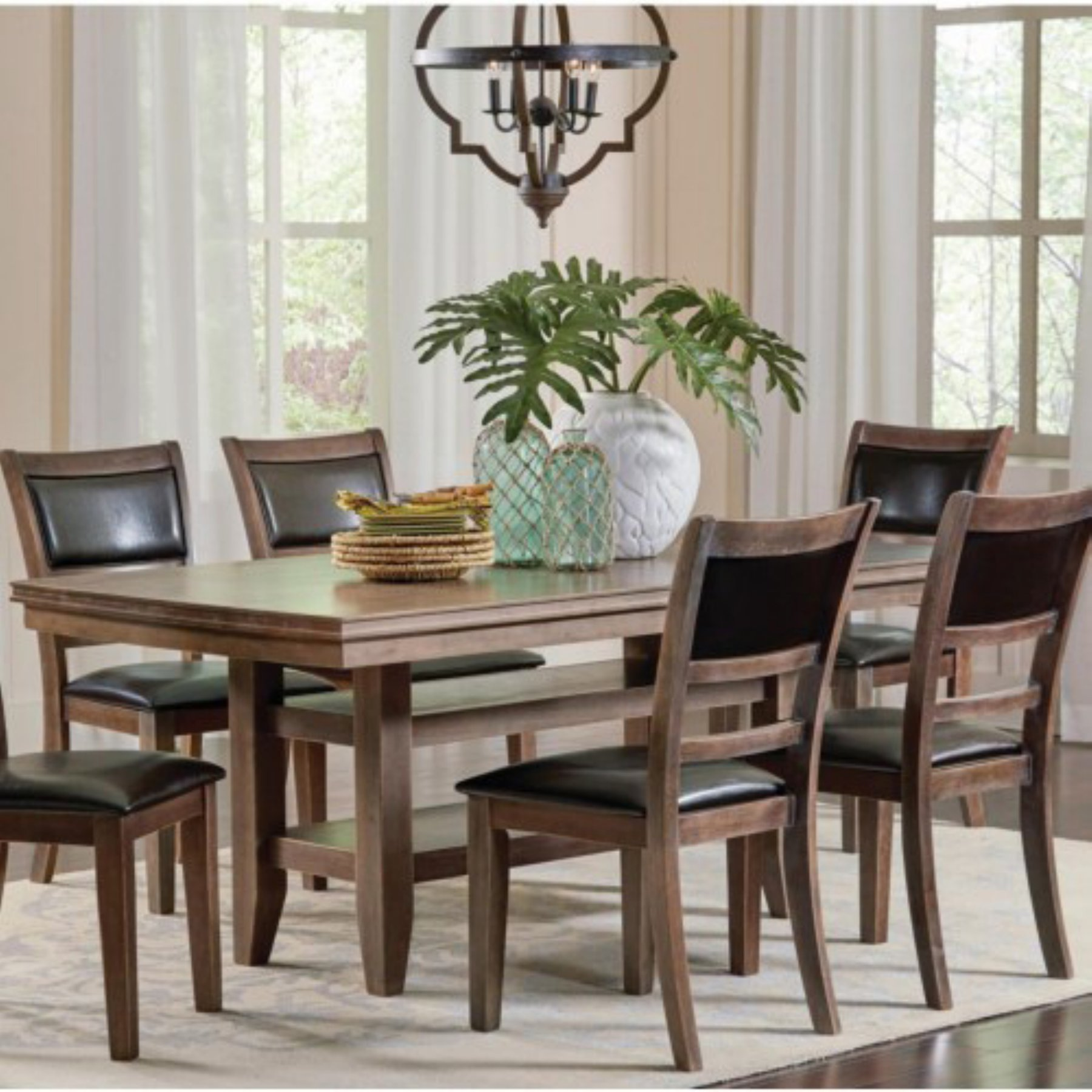 Coaster Furniture Bustamante 7 Piece Dining Table Set Coa4625