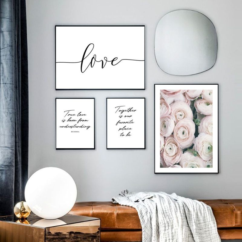 Modern 3D Vase Flowers Canvas Poster Prints Picture Wall Art Living Home Decor