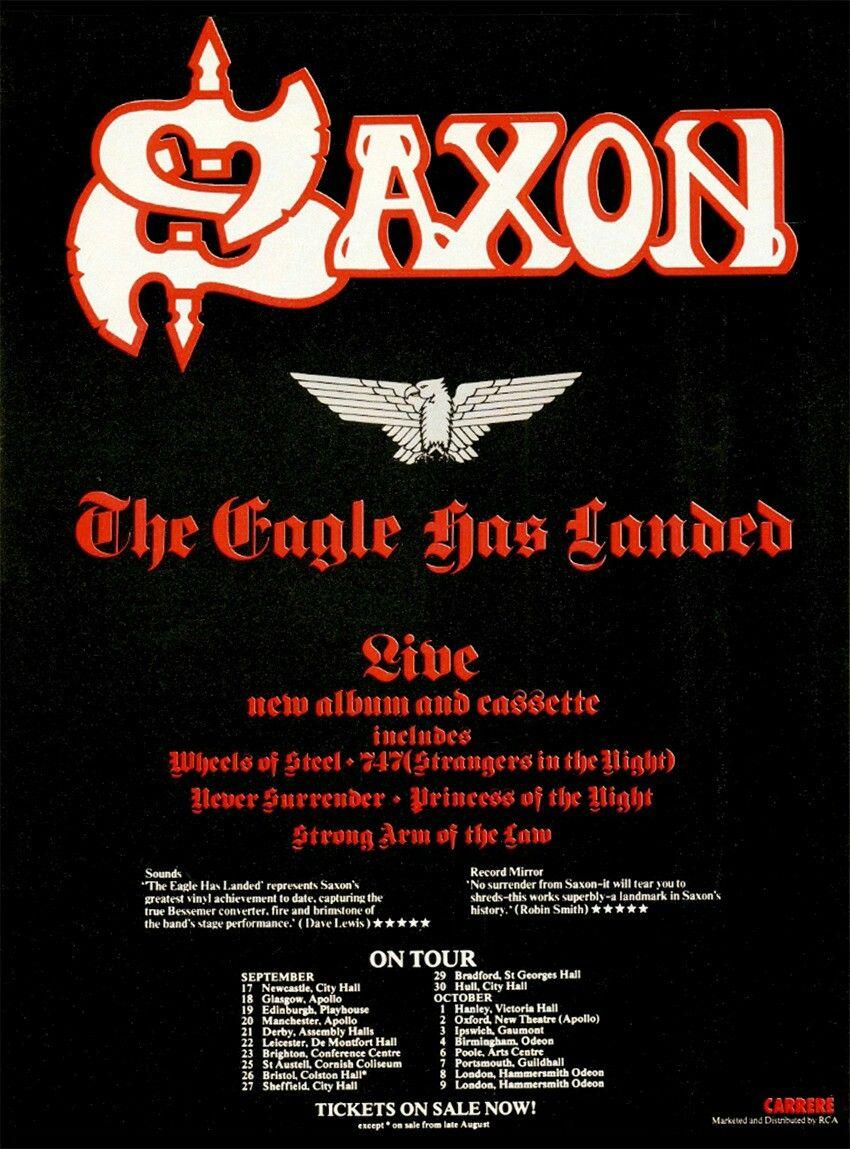 Pin By Gold Lion On Wallpaper Saxon Band Metal Albums