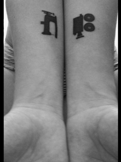 Boldness Sewing Machine Movie Camera Tattoo Sewing Machine Tattoo Camera Tattoos Sewing Tattoos