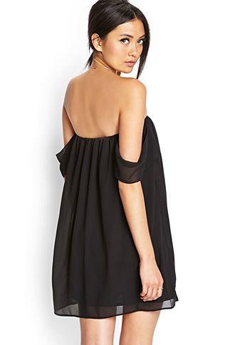 13234965b1b0 Off-The-Shoulder Swing Dress