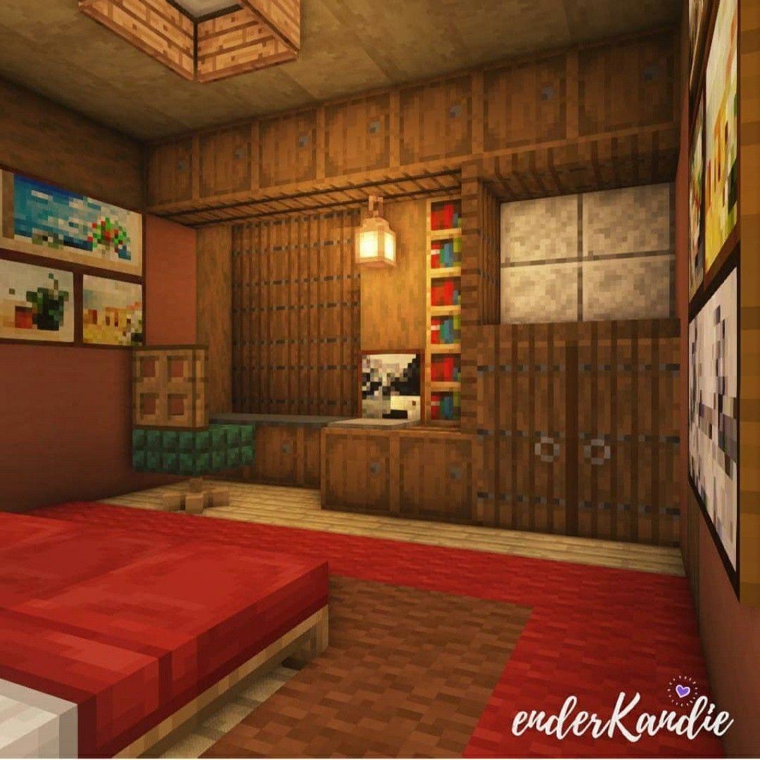4 Small Rooms Interior Design - Survival Mode - Minecraft ... |Minecraft Mansion Inside Bedroom