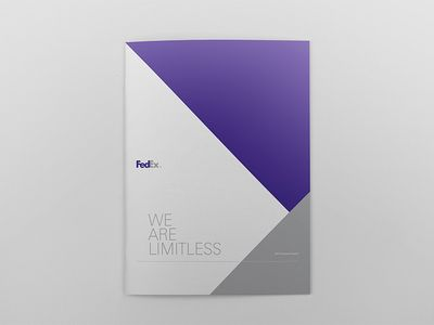 Fedex Limitless Report Cover Strong Simple