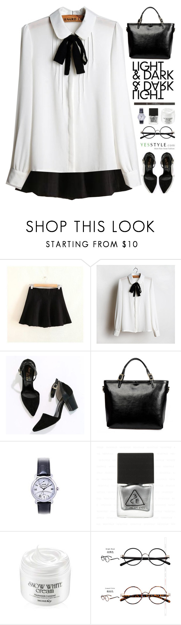 """""""YesStyle - Spring Fashion"""" by scarlett-morwenna ❤ liked on Polyvore featuring Waypoints, JVL, Cherryville, LineShow, GIMMAX Glasses, women's clothing, women, female, woman and misses"""