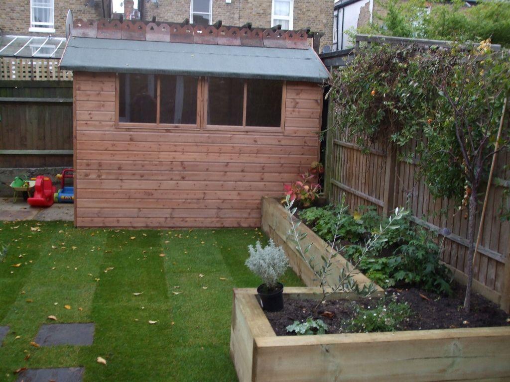 Railway sleepers garden gurus landscape gardening in south london