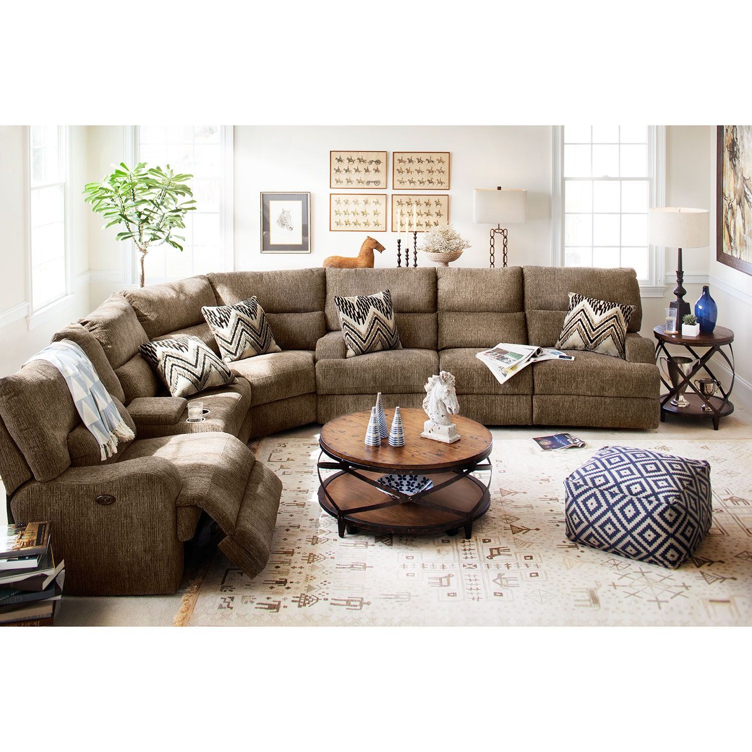 American Signature Furniture Com: Sundance 3 Pc. Power Reclining Sectional