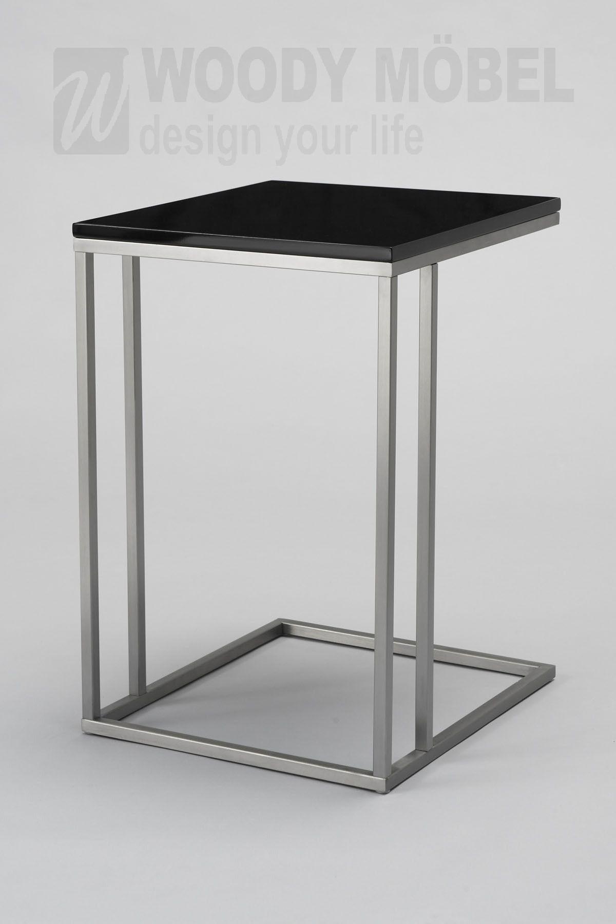 Beistelltische Schwarz beistelltisch schwarz high gloss woody 83 00153 modern jetzt
