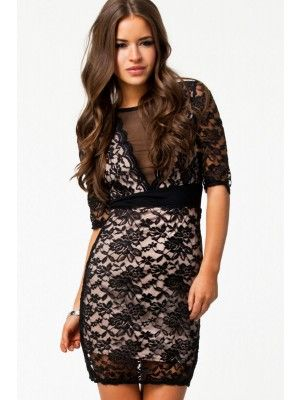 Mesmerizing Mesh V-neck Lace Surface Party Vintage Dress  $25.95 http://www.sensationofnight.com/mesmerizing-mesh-v-neck-lace-surface-party-vintage-dress-21106.html