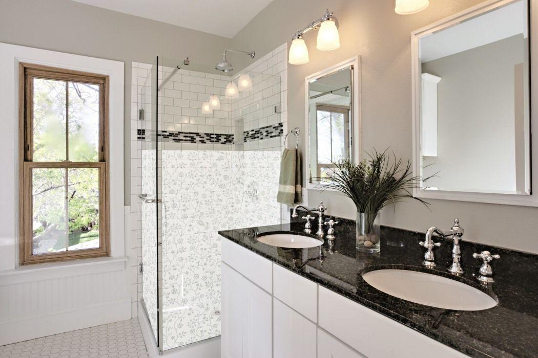 Idee für die Dusche Die langweilige Glastür mit individueller - küche mit folie bekleben