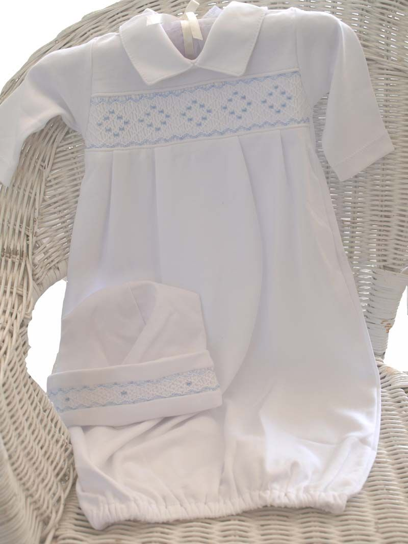 Baby Boys Smocked Layette Gown - Kissy Kissy | baby | Pinterest ...