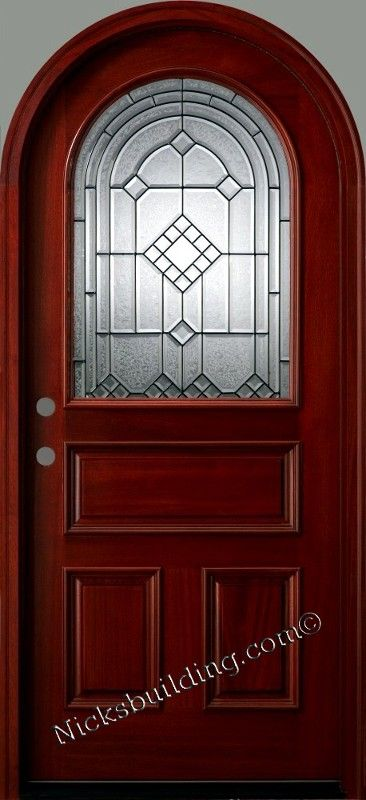 Nicku0027s Building Supply Has Round Top Doors For Your Arched Doorways.  #roundtopdoors #exteriordoorswithglass #exteriorsolidwooddoors