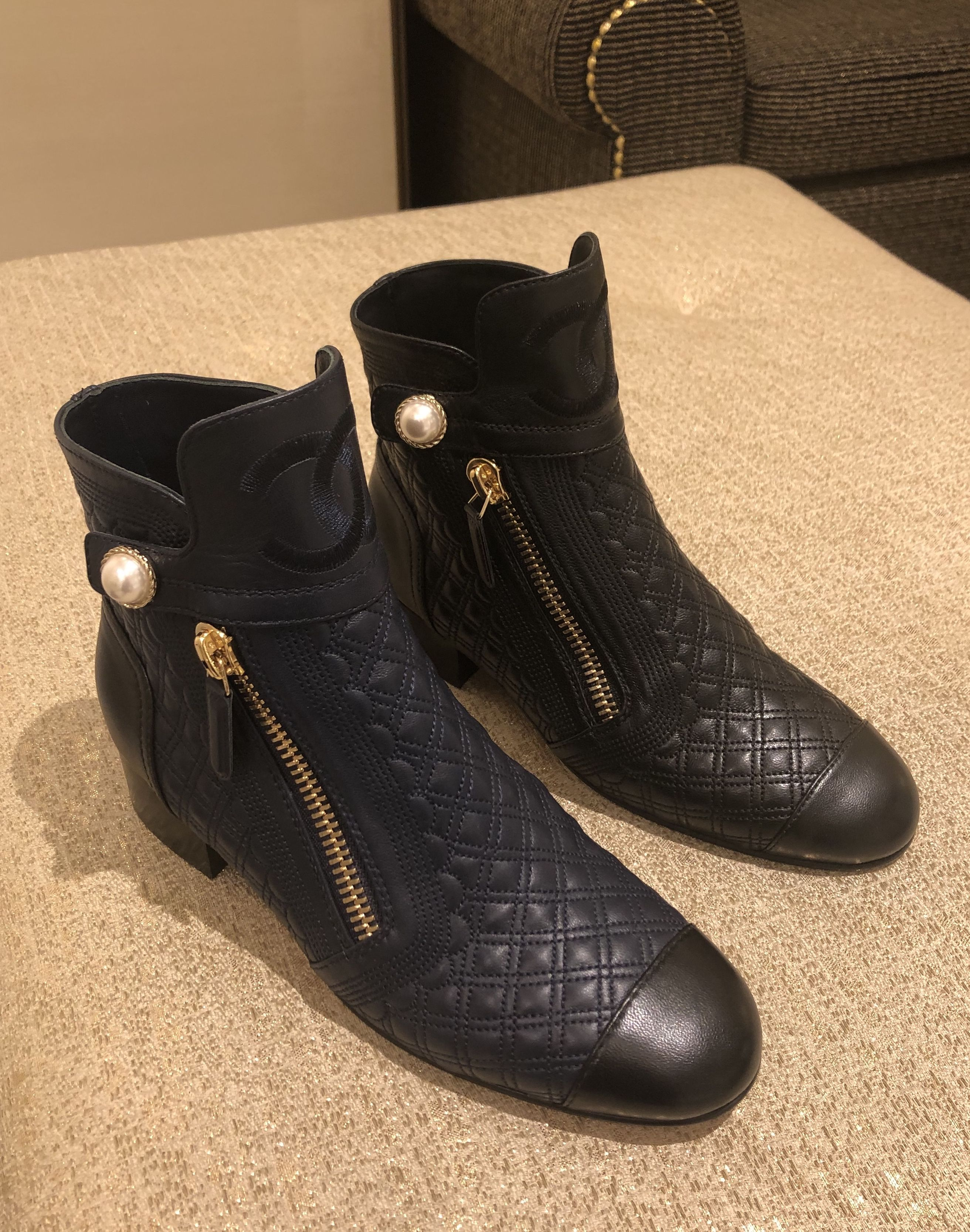 Boots, Chanel boots, Leather ankle boots