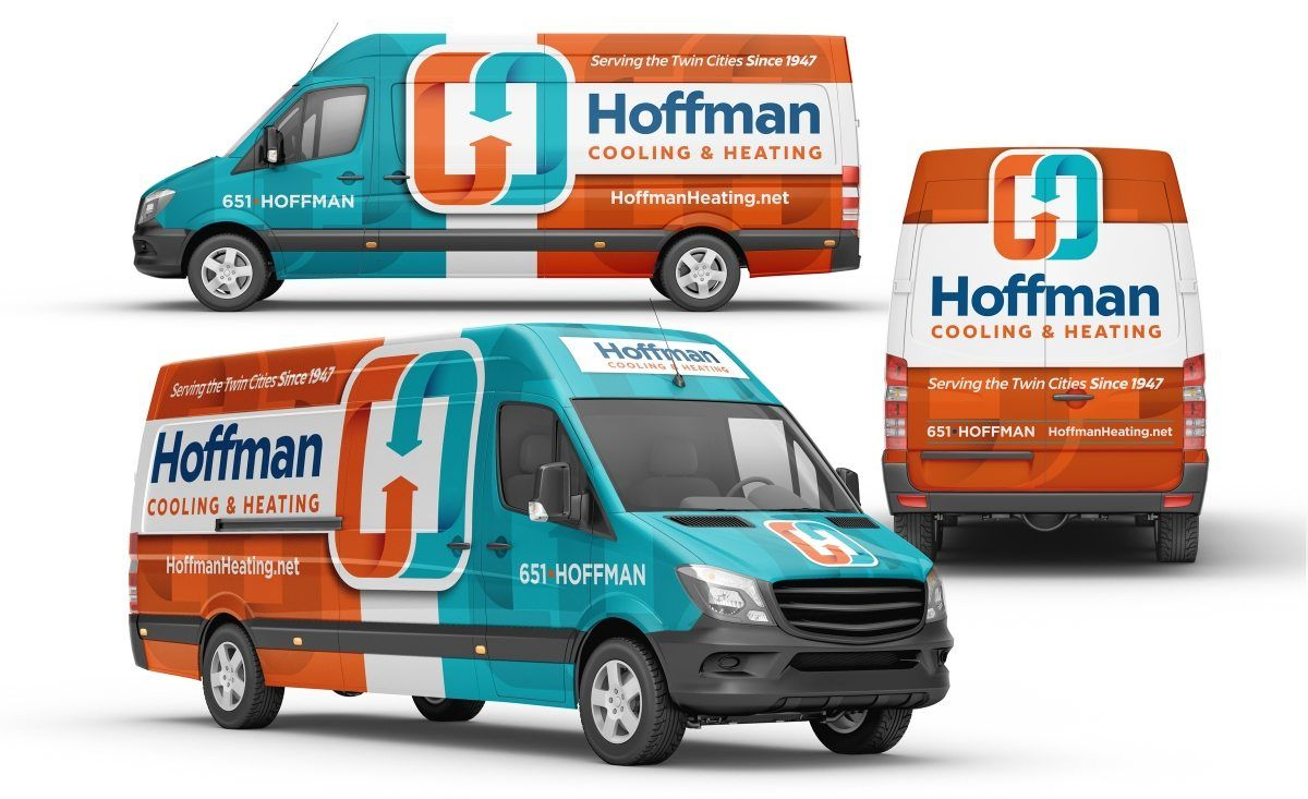 Vehicle Wrap Design For Hoffman Cooling Heating An Hvac Contractor In Minnesota Http Graphicd Signs Com Work Hoffman Co Car Wrap Vehicle Signage Vehicles