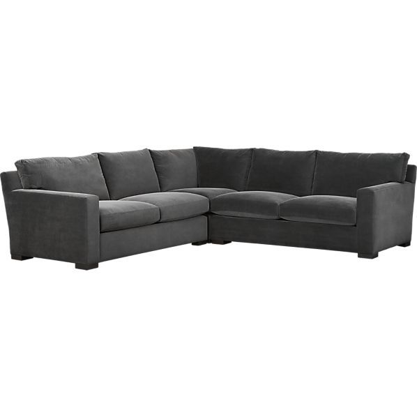 Axis II 3 Piece Sectional Sofa, Valencia: Rock (Napalm Couch) |