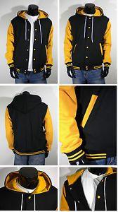 New Varsity Letterman Hoodie Baseball Jacket Xs S M L Xl 2xl 3xl 4xl Black Plain Baseball Jacket Varsity Jacket Men White Hoodie Men