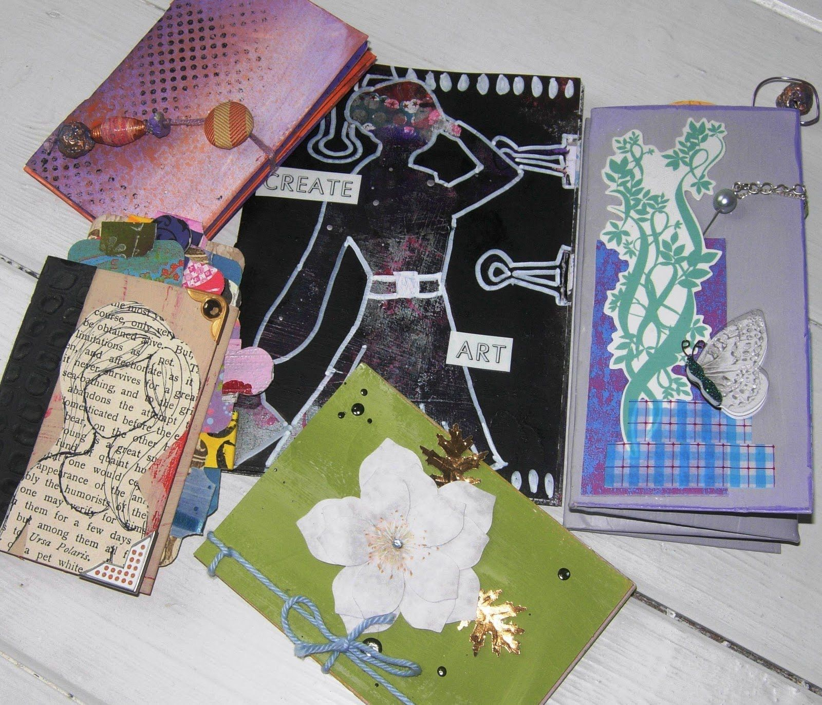 Make A Mini Book From A Recycled Greetings Card ~