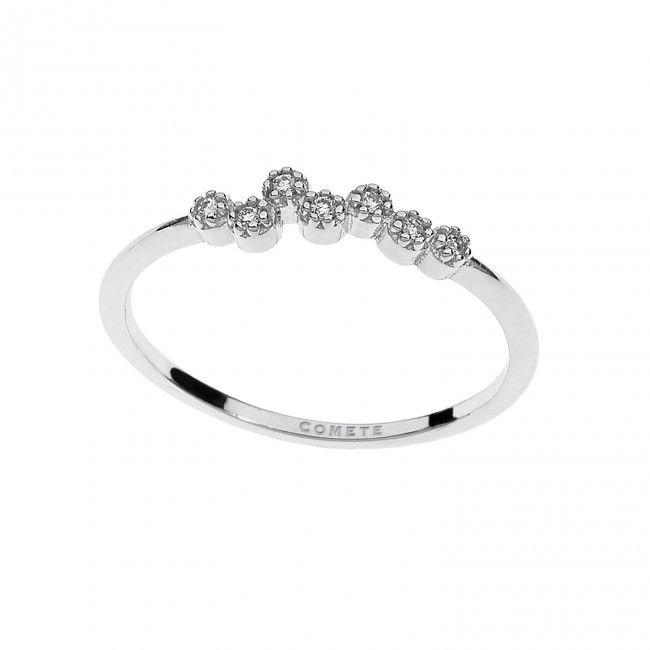 Anello in oro bianco con diamanti #CometeGioielli  ANB 1908