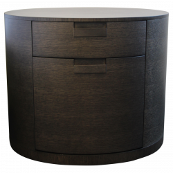 Chevet Ovale Amphora En Chene Gris De Maxalto Filing Cabinet Furnishings Home Decor