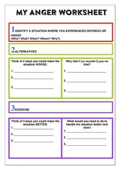 Behaviour Support My Anger Managment Workbook
