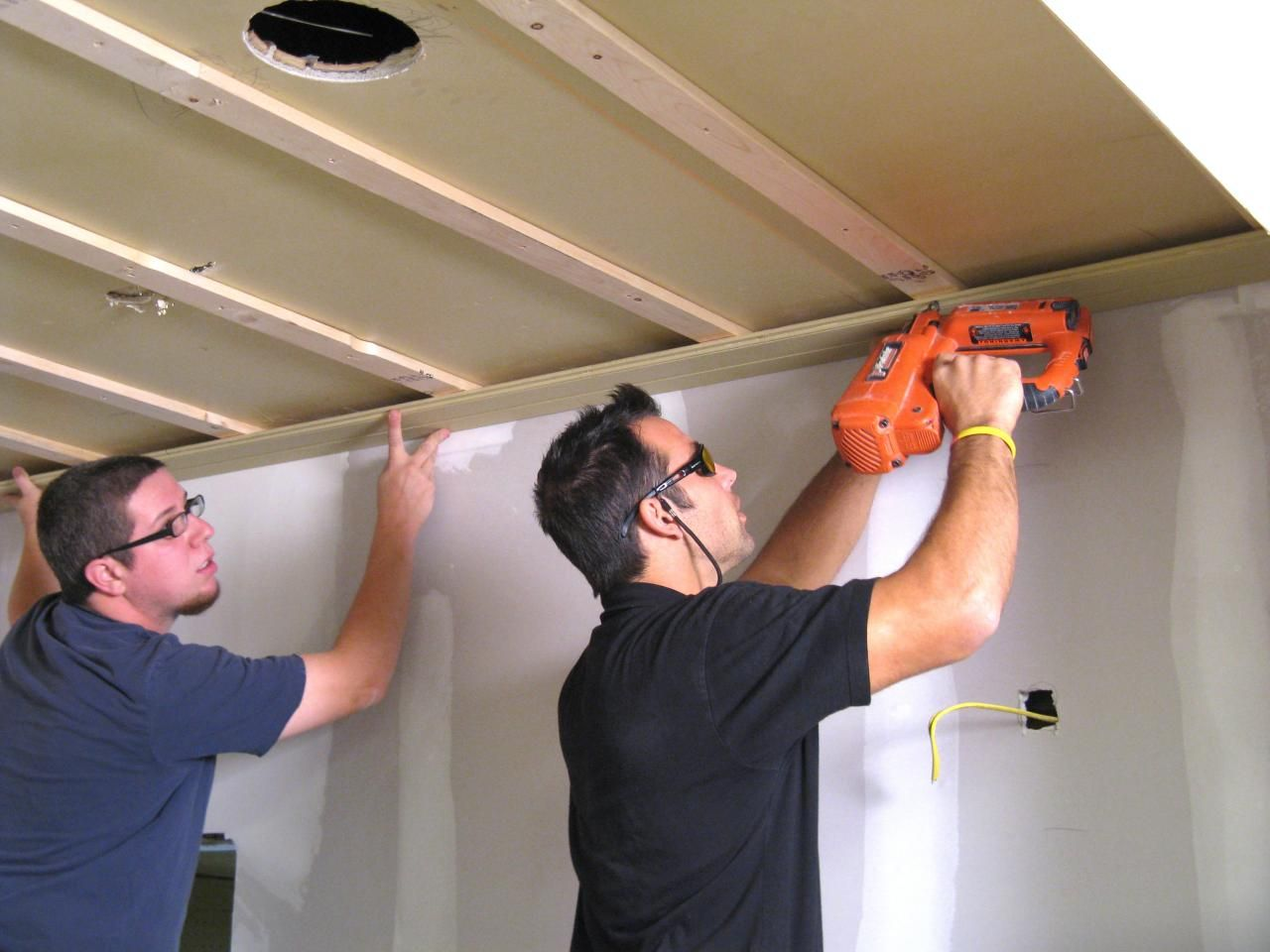 How to Install a TongueandGroove Plank Ceiling Plank
