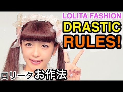Lolita Fashion DRASTIC RULES impossible to follow TUTORIAL by Kawaii model Misako Aoki|青木美沙子ロリータマナー - YouTube