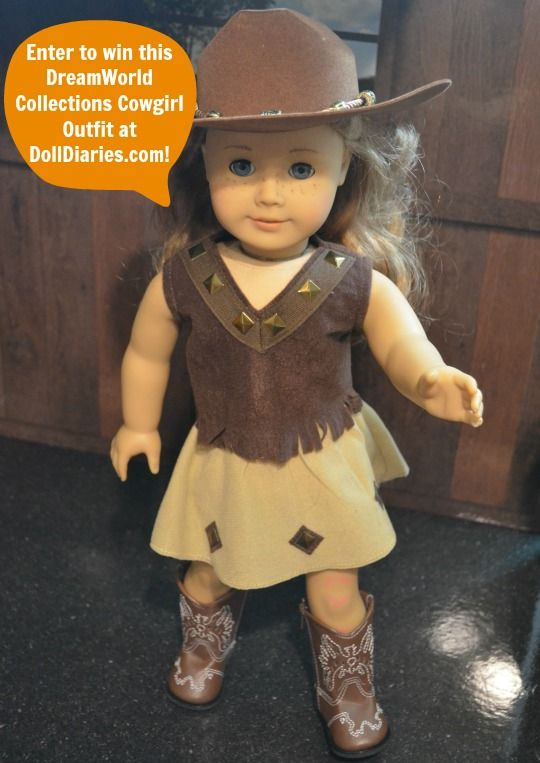 Cowgirl Hairstyles Dreamworld Collections Cowgirl Outfit Giveaway  Doll Diaries