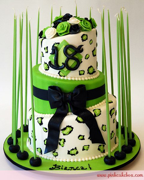 Cheetah Print Th Debut Birthday Cake  Birthday Cakes Cake - Happy birthday 18 cake