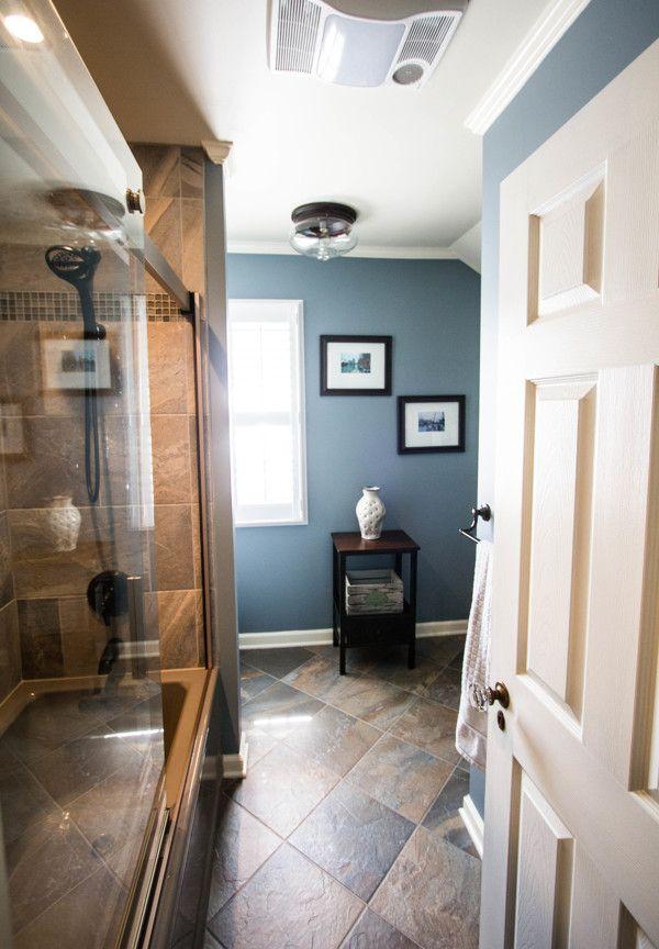 Benjamin Moore Van Courtland Blue Family Room Design