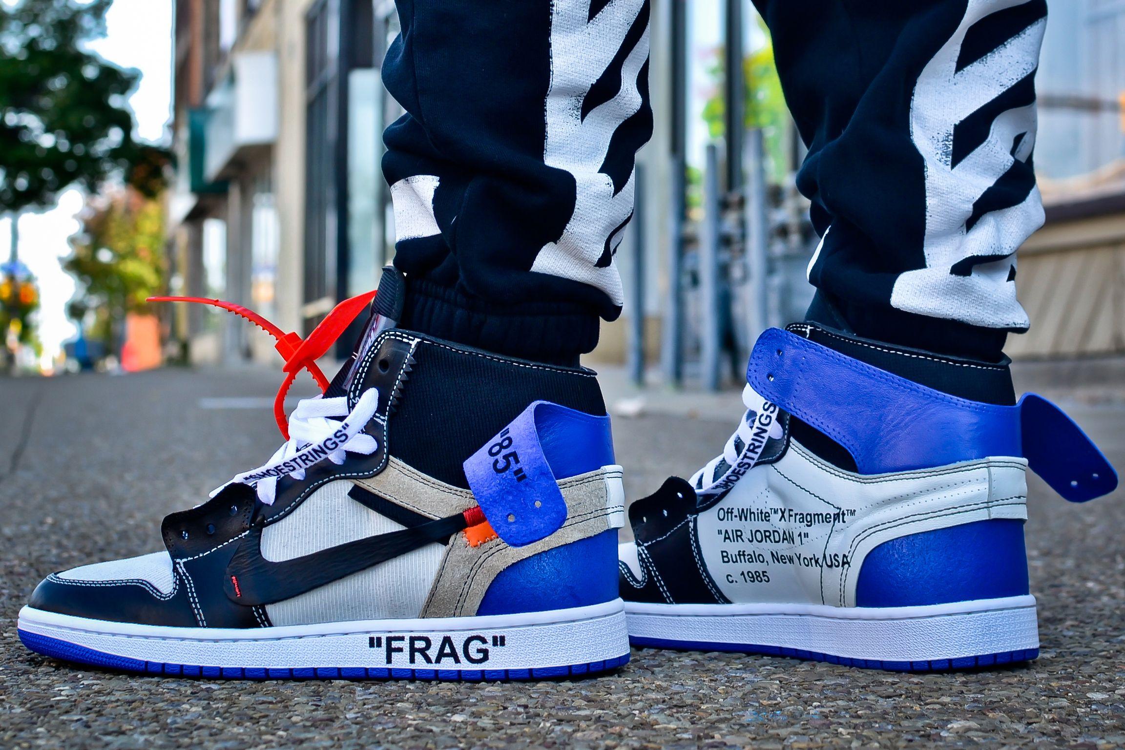 Customizer Imagines A Virgil Abloh X Fragment Design X Nike Air Jordan 1 Sneakers Men Fashion Off White Shoes Comfortable Mens Shoes