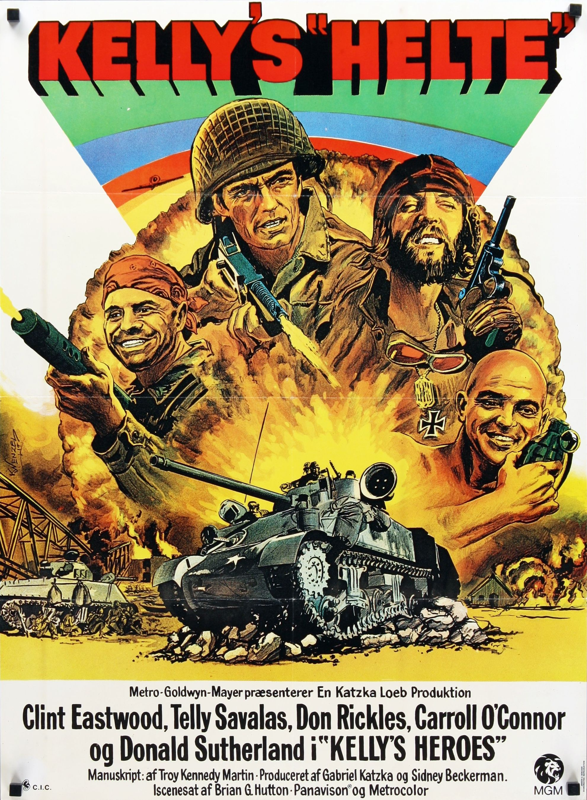 Kelly's Heroes (1970) (Brian G. Hutton) | Movie Posters