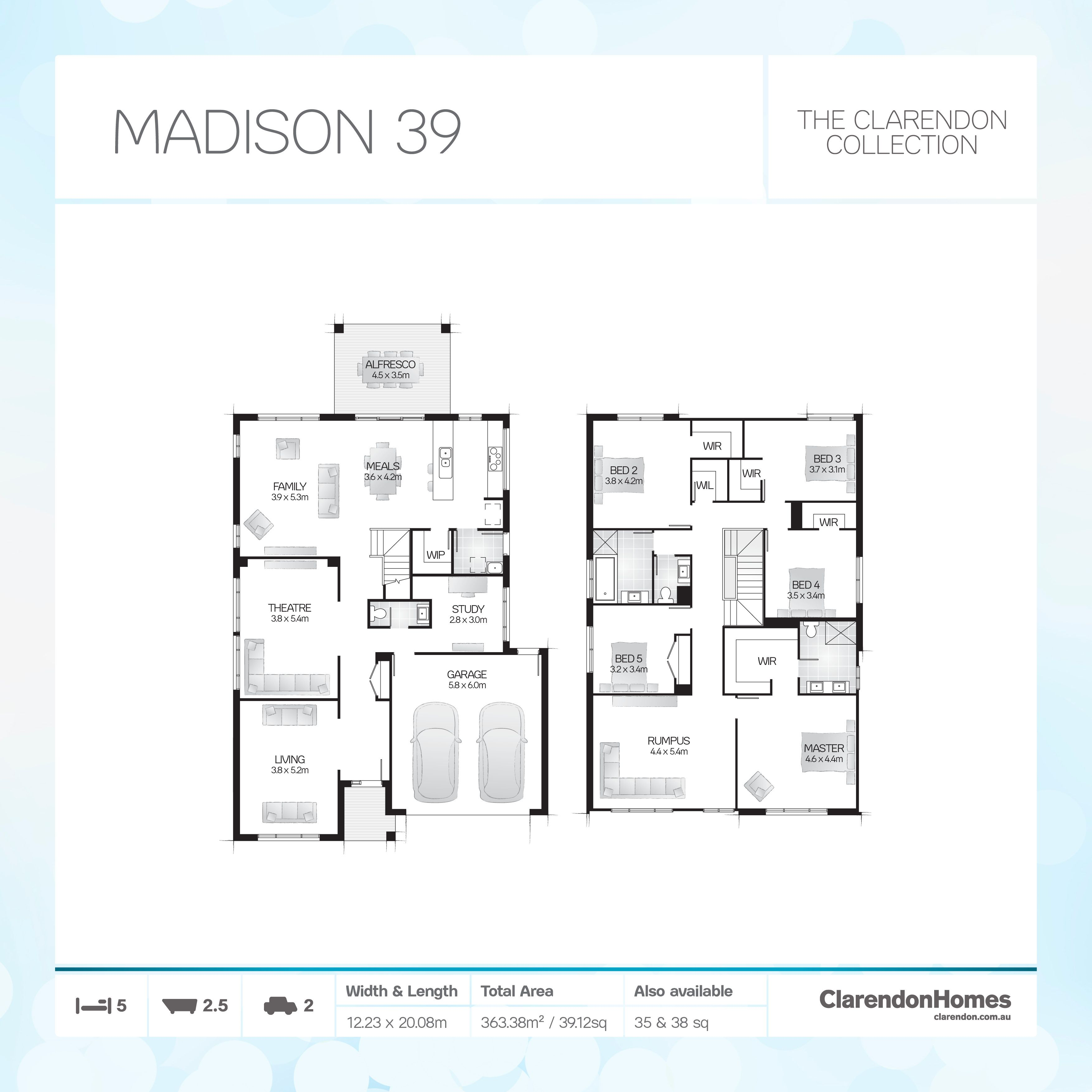 Clarendon Homes. Madison 39. A Showcase Of Exquisite Style.