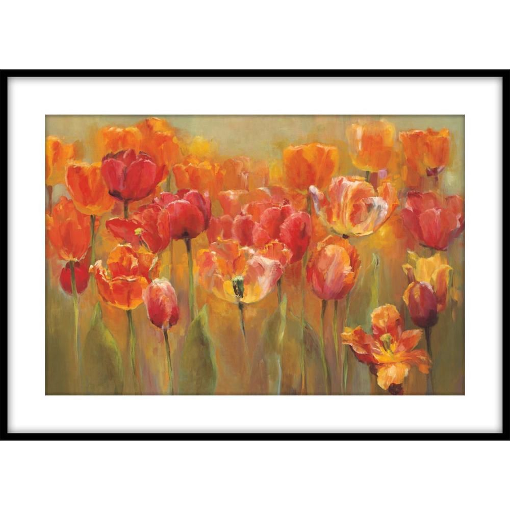 Ptm Images 19 75 In X 24 75 In Mixed Foursome Framed Printed Wall Art 1 76886 The Home Depot Fine Art Giclee Prints Tangletown Fine Art Painting Frames