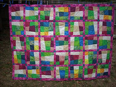Crazy nine patch quilt for single bed | Patch quilt : crazy nine patch quilt - Adamdwight.com
