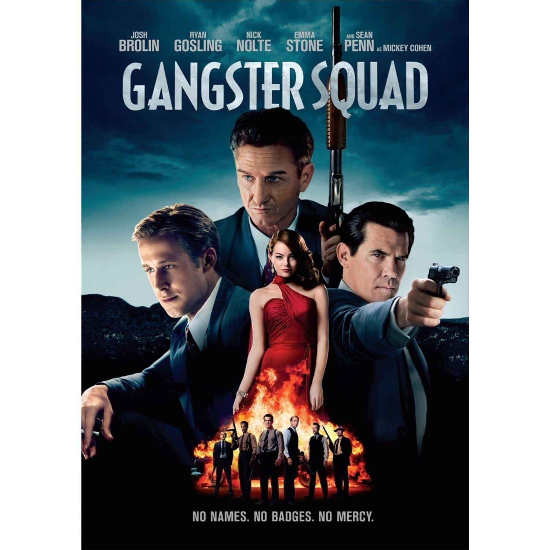 Gangster squad signed movie poster black multicolor