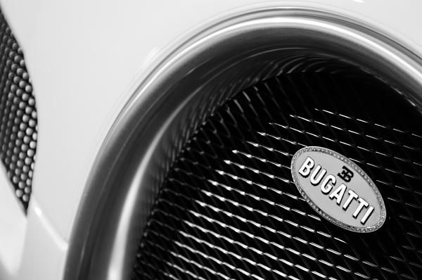 2010 Bugatti Veyron Grand Sport Grille Emblem - Bugatti Photographs by Jill Reger