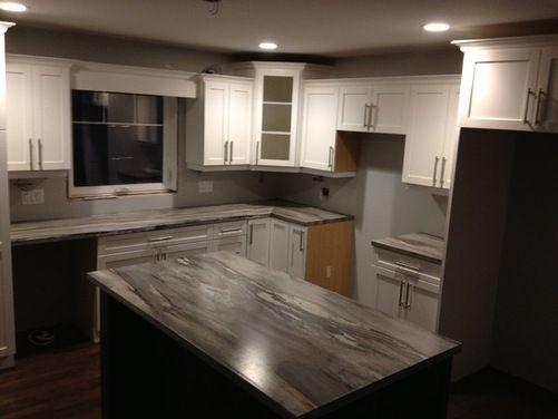 New kitchen. Needs backsplash ??? - Houzz | Formica ...