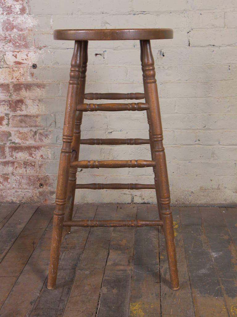 Stupendous 1Stdibs Wood Vintage Wooden Bar American Stool Art Studio Forskolin Free Trial Chair Design Images Forskolin Free Trialorg