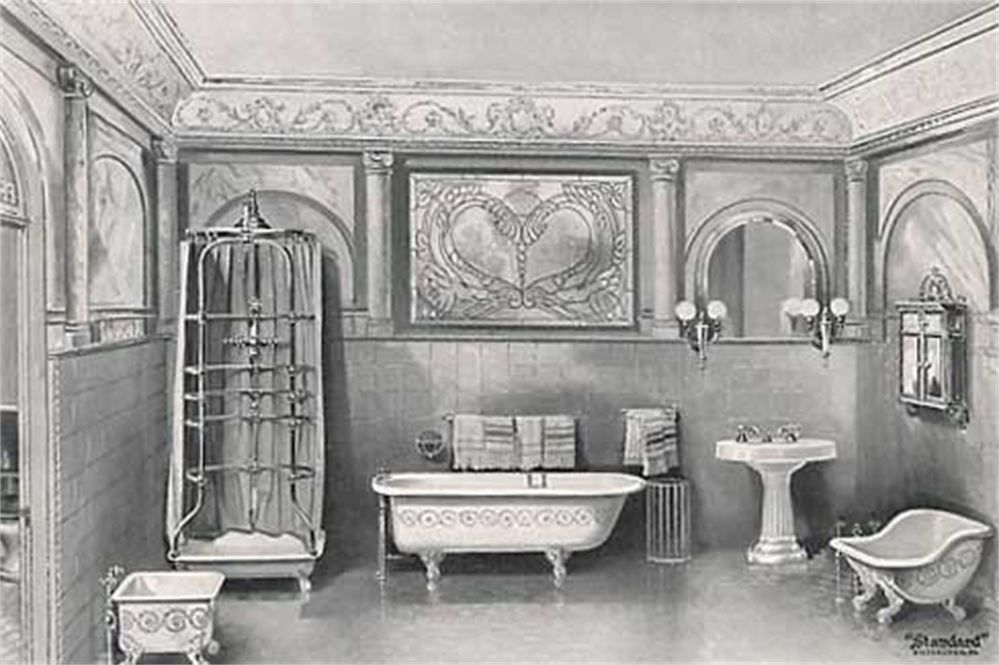 A victorian bathroom from the 1900 39 s historic for Bathroom ideas 1920s home