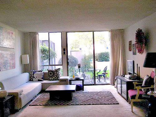 Living Rooms With Rugs On Carpets Rugs In Living Room Apartment Carpet Apartment Therapy Small Spaces