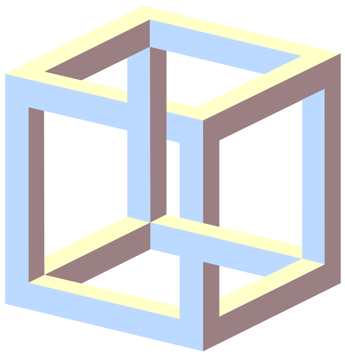 Impossible Cube Wikipedia Optical Illusions Amazing Optical